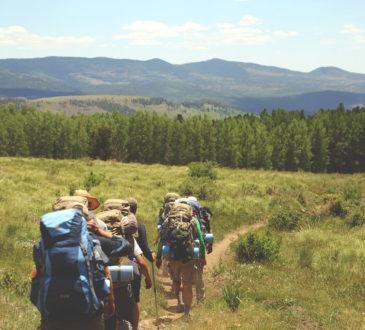 Rucksack für Hüttenwanderung
